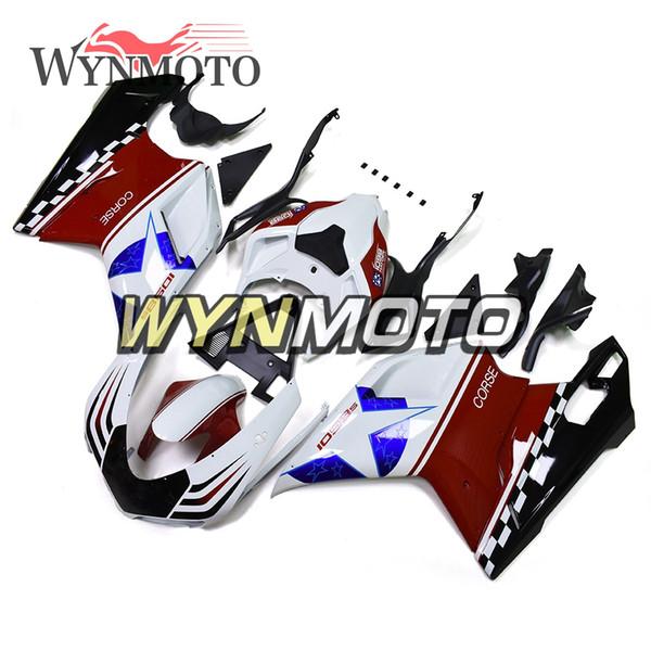 Carenatura per motocicli Carrozzeria rosso bianco blu per Ducati 1098/848/1198 Carenatura per moto carabina in plastica ABS