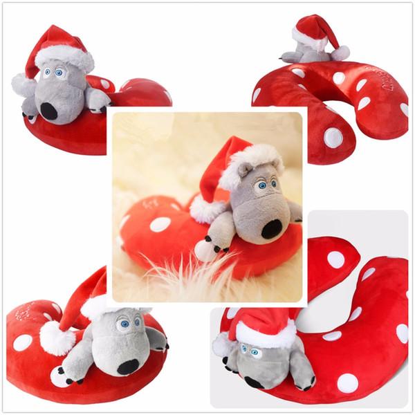 1 pieza de peluche de juguete de Beckkom desafortunado oso figura de acción coreana oso de dibujos animados Cosplay tipo U almohada regalo de Navidad para amigos