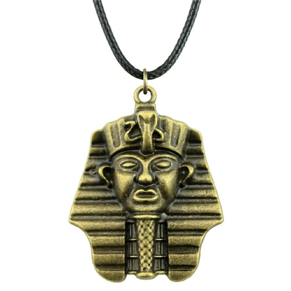 WYSIWYG 5 Pieces Leather Chain Necklaces Pendants Choker Collar Women Necklace Jewelry Egyptian Pharaoh 36x28mm N6-A11417