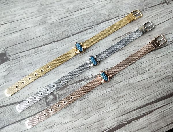 5Pcs Turkish Style frog Double Bails Connector,Micro pave CZ zircon Strap bracelet,adjustable bracelet women Jewelry BG184
