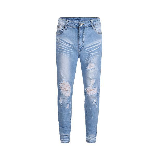2018ss new Korea japan High Quality hiphop Rock Locomotive Fear Of God jeans kanye west Retro Do the old hole Sabotage Jeans