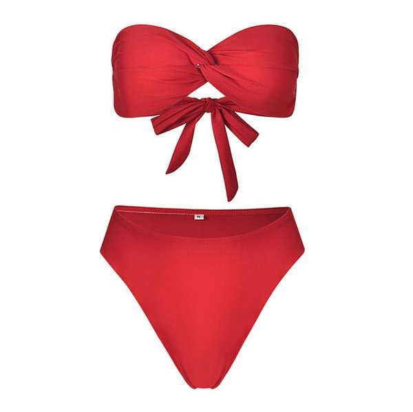 New Bikinis Women Swimsuit 2018 Swimwear Women Swimsuit Sexy Bandage Halter Bikini Set Solid Bathing Suit Brazilian Beachwear Push Up Bikini