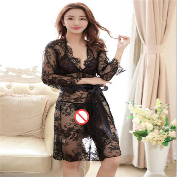 Sexy Lingerie porn sex erotic underwear Lace Kimono robes bathrobe wedding Bridesmaid Dress Sexy bikini bra set G-String Thong sex costumes