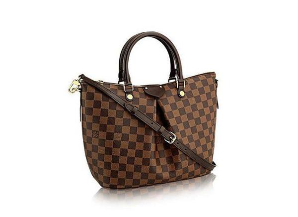 Damier canvas SIENA medium handbag N41546 TOP OXIDIZED REAL LEATHER ICONIC BAGS SHOULDER BAG TOTES CROSS BODY BUSINESS MESSENGER BAGS