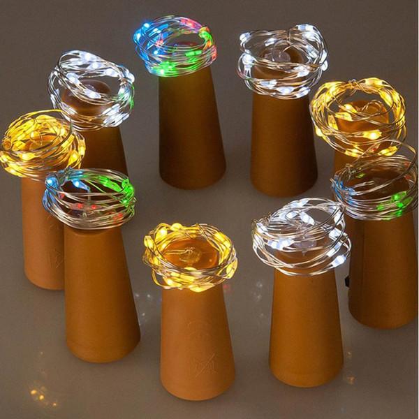 Luces de botellas de vino rojo 2M 20 LED en forma de corcho Luces estrelladas de Navidad de San Valentín decoración del banquete de boda luz