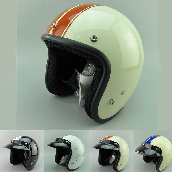 New adult open face jet moto Vintage motorcycle helmets motorbike casco retro helmet scooter 3/4 half helmet DOT casque S M L XL