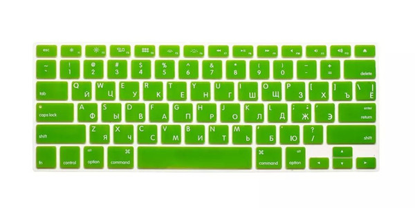 """Russian Letters Keyboard protector for Macbook Air Pro Retina 13"""" 15"""" 17"""" Laptop Skin Covers for Mac book 13 15 US Version"""