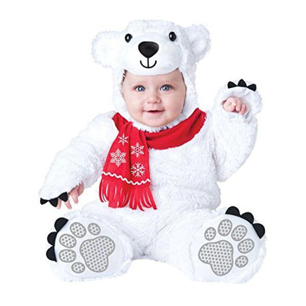 Lovely Animal Halloween Outfit for Baby grow Infant Boys Girls Baby Fancy Dress Cosplay Costume Gorilla/Brown bear/Polar bear/Stray dog