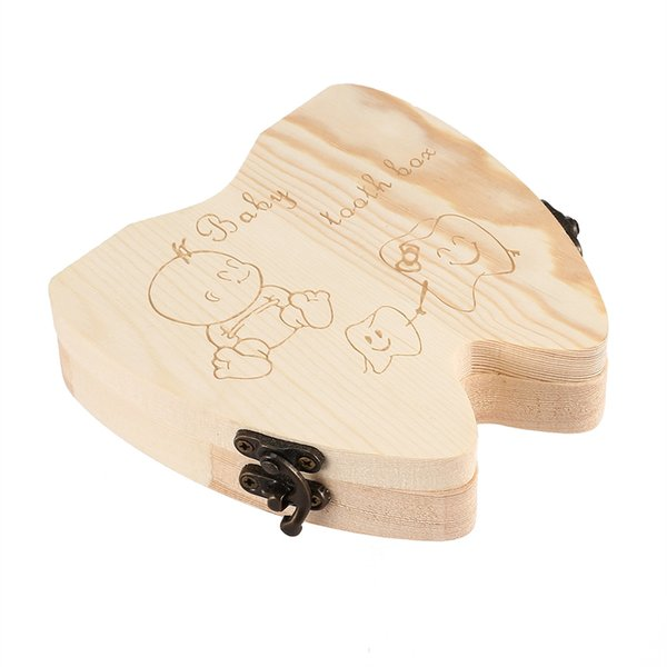 Creative Wooden Baby Tooth Storage Box for Deciduous Teeth for Saving Sweet Children Memories