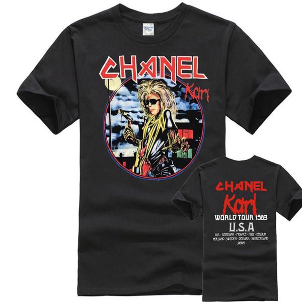 FER MAIDEN T Shirt Lager Karl Concert Coton À Manches Courtes S à XXL Coton Naturel Adolescent Imprimé 100% Coton Tee Shirt Pour Hommes