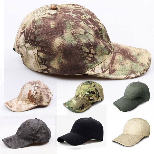 Python Camouflage Hat Simplicity Outdoor Hat Woodland Camo Tactical Cap For Hunting Army Hat 7 Styles Support FBA Drop Shipping G700F
