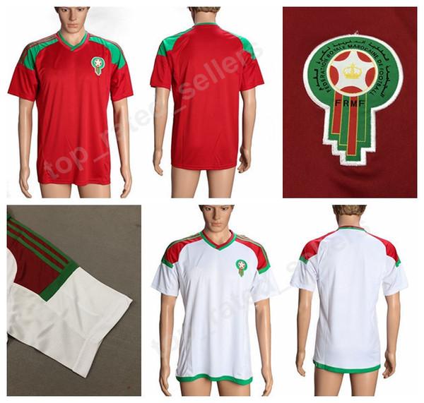 Marokko Home und Away Fussball Trikots für Erwachsene