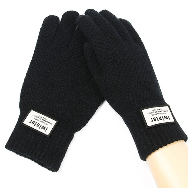 Cashmere Knitted Gloves Men Thick Warm TouchScreen Gloves Mittens 2018 Fitness Workout Autumn Winter Male Gloves Women
