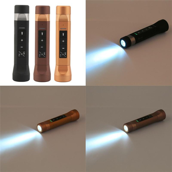 Multifunction Music Torch Flashlight Bike Cycling Bluetooth Speakers 4 in 1 Speakers Power Bank Charger for mobile 100p