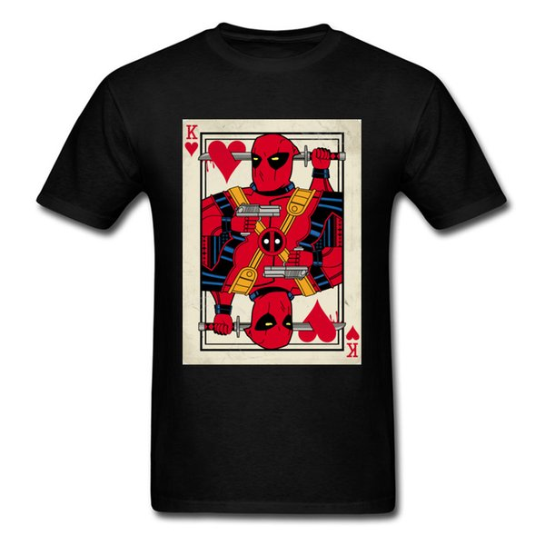 Black Cool T Shirt For Men Awesome Design Tees Deadpool Joker Card 3D Print Leisure Tshirt Wholesale On Sale Men's Summer Tee Shirt Tops