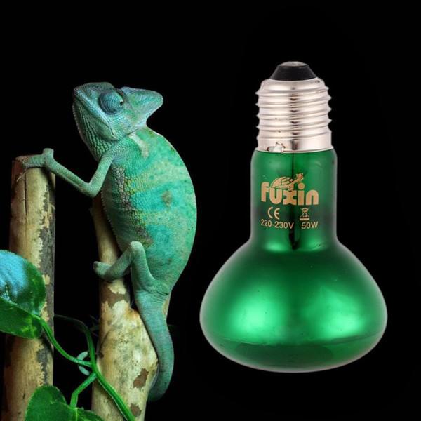Útil 25/50/75/100 W Pet Intenso Basking Spot Bulb Reptil Lámpara de iluminación Rojo / Verde Sun Glo Heat Light Bombilla para Reptil Pet