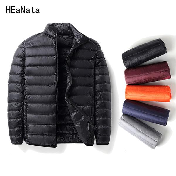 2018 Winter men Ultralight Jacket White Duck Down Jacket Men Down Jackets Outdoors Winter Male Casual jacketCoat Parka