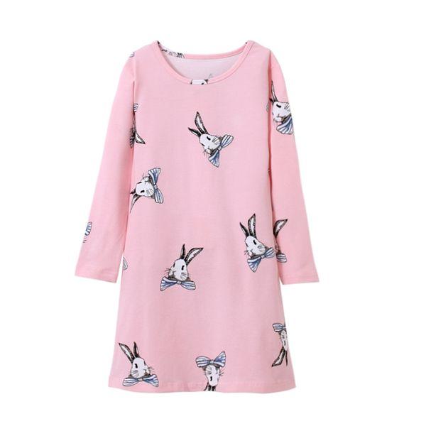girls cotton pajamas for kids cute pink long night dress summer casual loose home dress nightgown sleepwear sleeping 2018