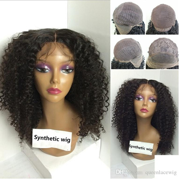 Synthetic Lace Front Wigs For Women Afro Kinky Curly Lace Front Synthetic Wigs with Baby Hair Glueless Heat Resistant Cosplay Lace Wigs