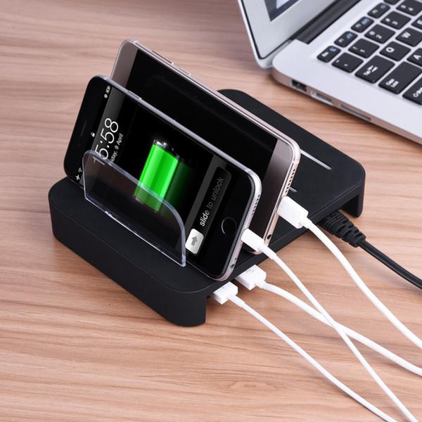 4 USB Multi Port Schnelles Ladegerät Schnell Ladestation Dock Für iPhone Samsung Tablet mit Kleinkasten