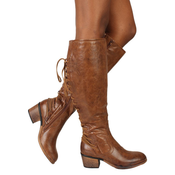 boots women winter woman shoes thigh high boots Knee boot platform ladies shoes zapatos de mujer cowboy boot for women
