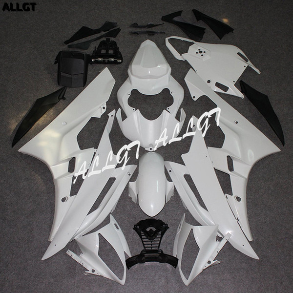 ALLGT Unpainted White Motorcycle Fairings Kit bodywork Parts for Yamaha YZF R6 2005