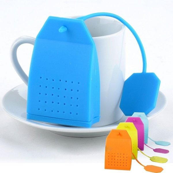 Colorful Silicone Tea Infuser Tea Leaf Spice Strainer Bag Style Teacup Teapot Filter Diffuser Tea Accessories 74mm*43mm*19mm