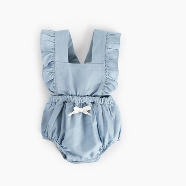 Newborn Baby Boy Girl Clothes Autumn 2018 Baby Rompers Ruffle Cotton Infant Jumpsuit Toddler Clothing with Bow Princess
