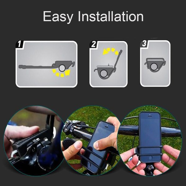 wholesale Bicycle Phone Holder Universal Mobile Cell Phone Holder Bike Handlebar Clip Stand GPS Mount Bracket For iPhone for Samsung
