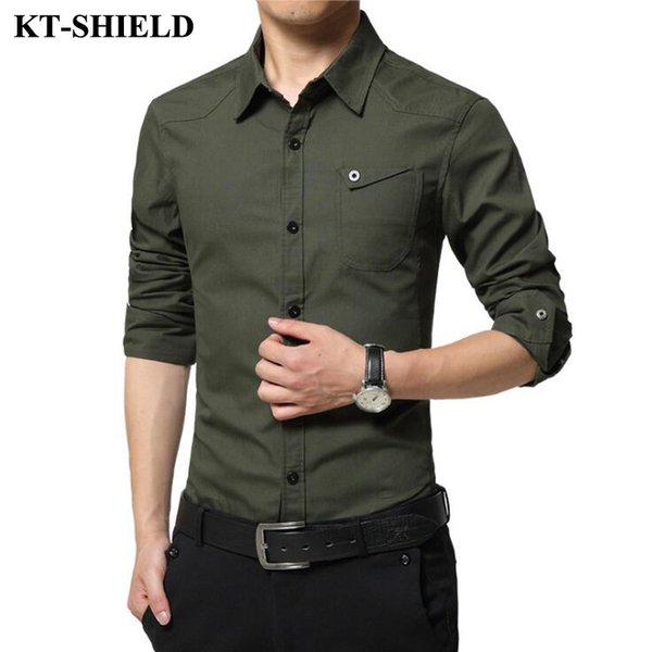 Famous Camisa Male Shirts Long Sleeve Men Shirt Fashion Casual Business Formal Shirt Chemise Homme Autumn Brand Clothing