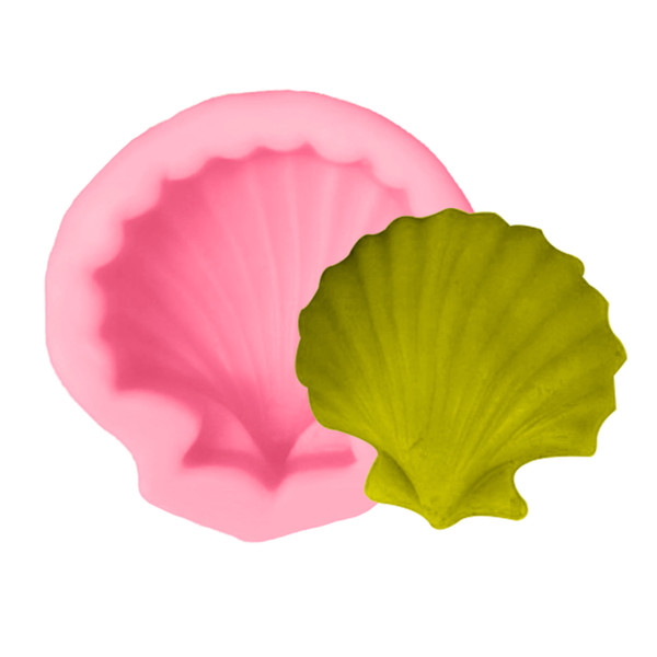 Kitchen Pastry Tools 1PC Sea Shell Silicone Cake Mold Bread Chocolate Soap Mold Cake Stencils Sugarcraft Baking Pan