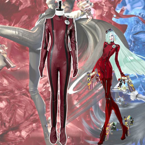 Bayonetta 2 Jeanne Cosplay Costume Adult Women Jeanne Jumpsuits Red Costume