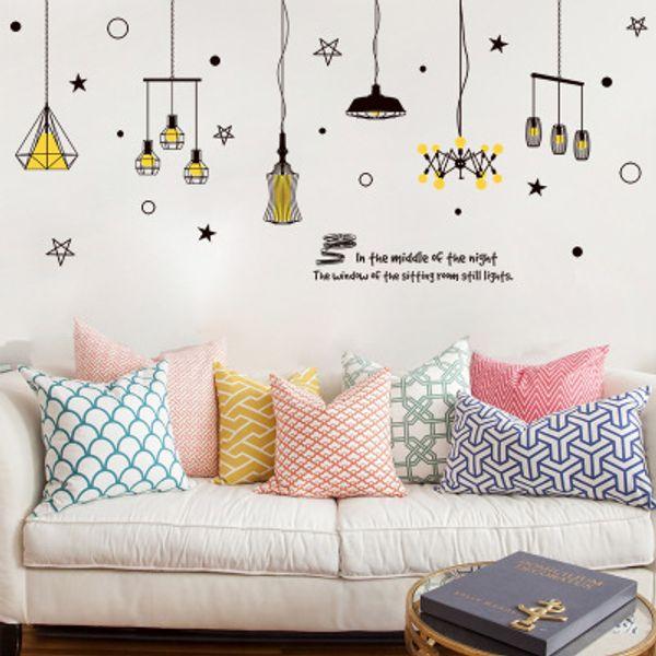 240*106cm Star & Lighting Wall Stickers Wallpaper Christmas Paper Peint 3d Home Decor Bathroom Kitchen Accessories Household Suppllies