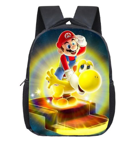 12 Inch Super Mario Bros Kindergarten School Bags Sonic Printing Bookbags Children Baby Toddler bag Kids Backpack Gift