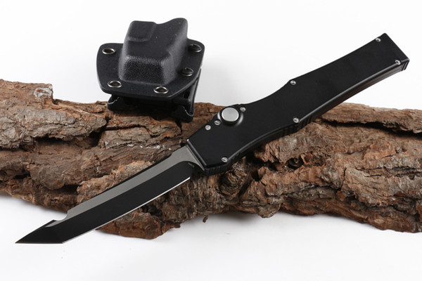 Special Offer 150-4 HALO V T/E 4.6'' Full size Black Plain knife Tanto Edge single action Tactical knives with original box