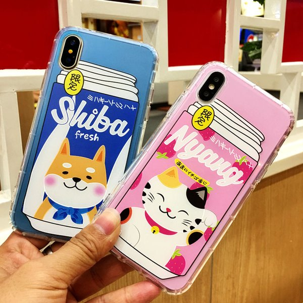 100PCS TPU Phone case For iphone 6 6s 7 7plus 8 8plus 6plus Shiba dog Case For iphone X XS MAX XR Soft TPU Silicone Phone Cases