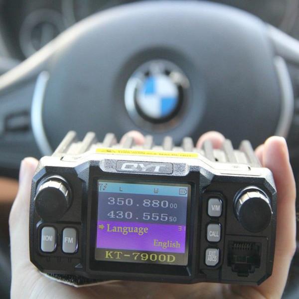 QYT KT-7900D mobile car radios quad band four band 25w VHF UHF long distance Portable radio station 10km ham radio transceiver