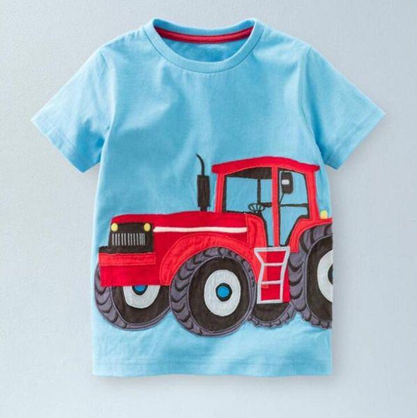 2018 Boys T-shirt Summer Cartoon O-neck Short Sleeve Summer Tee Cotton Three-dimensional Car Football Print Kids T shirt Blouse Clothes