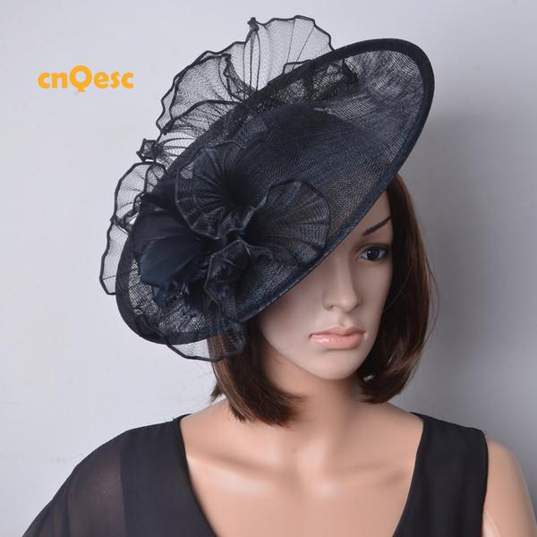 Black Large Sinamay Hat Crin Fascinator Wedding Hat Church Hat Formal Dress Hat Wedding Hats For Ladies Wedding Veil Hats From Qescgroup 3517