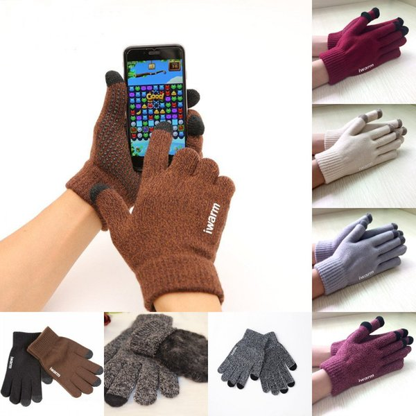 13 Styles Winter Touch Screen Gloves Couple gloves Warm Anti-skid Multi Purpose Unisex Capacitive Xmas Gift For iPad Smart Phone H917Q