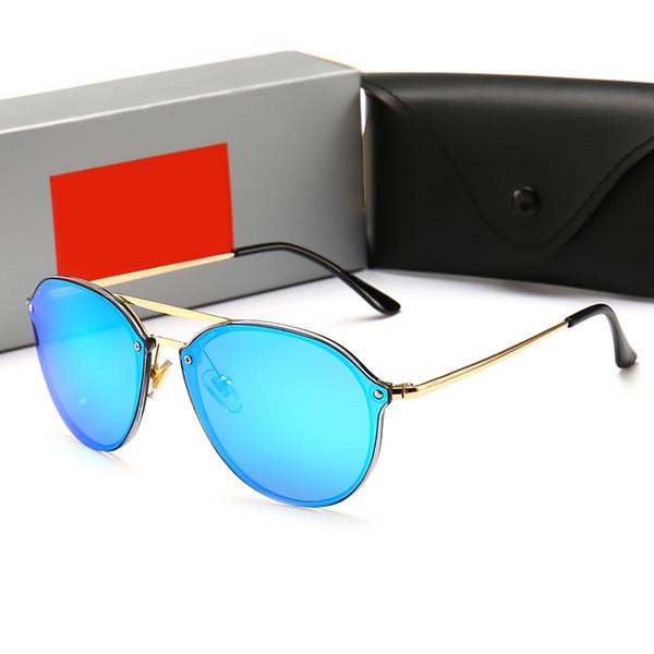 2018 En kaliteli tasarımcı güneş kadınlar puan güneş moda kutusu UV400 güneş gözlüğü ile kadınlar için Çerçevesiz 4292 10 pairs