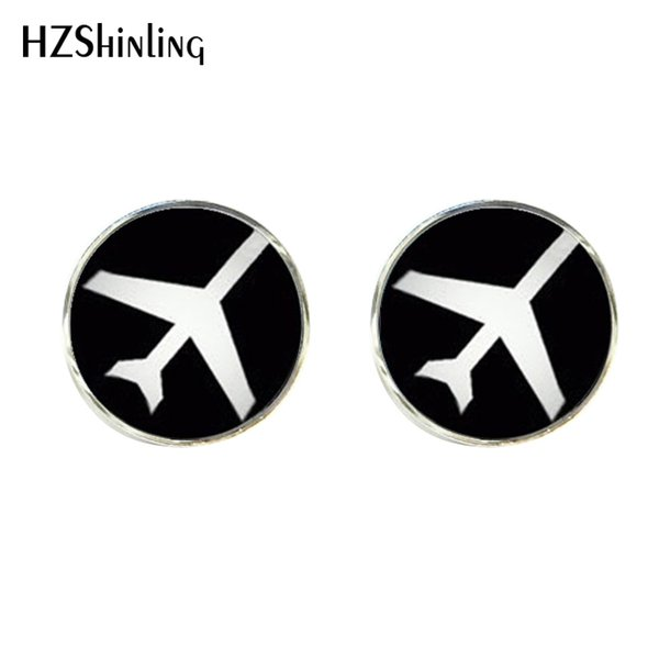 Nouveaux clips d'avion boutons de manchette avion pince à cravate compagnies aériennes Logo manchette lien Handcaft manchette cadeaux pour les hommes