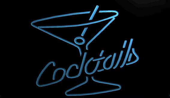 LS1137-b-Cocktails-Rum-Wine-Lounge-Bar-Pub-NEW-Light-Sign Decor Free Shipping Dropshipping Wholesale 8 colors to choose