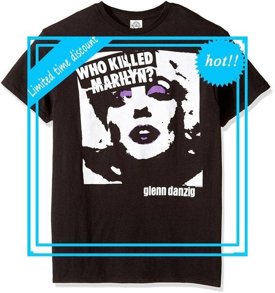 New Fashion Style Design T Shirt Danzig - Who Killed Marilyn T-Shirt Crew Neck Regular Short Tee Shirt For Men