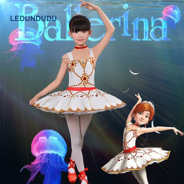 Cartoon Movie Ballerina Felicie Kids Girls Halloween Party Carnival Cosplay Costume Summer Children Ballet Dancewear Tutu Dress