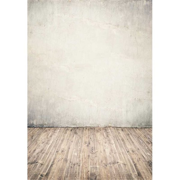Vintage Solid Color Concrete Wall Photography Backdrops Vinyl Fabric Digital Printing Kids Children Photo Studio Backgrounds Wooden Floor