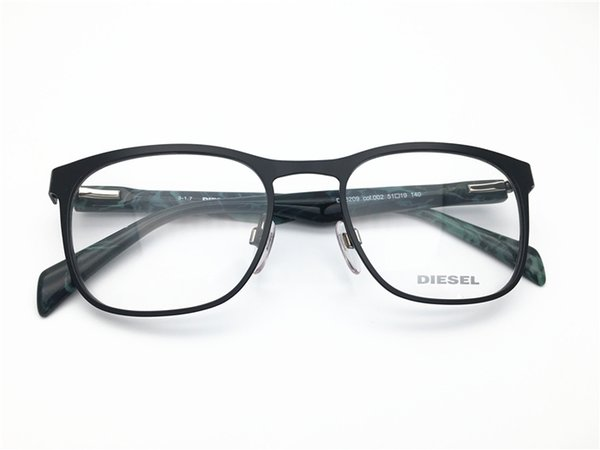 DIESEL Brand Design men army green metal full rim top quality optical frame spectacle frame optical Clear prescription Lenses DL5208-F