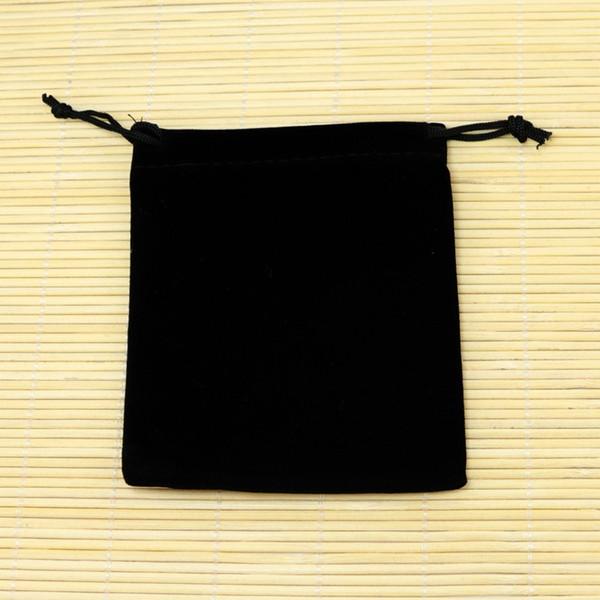 Petits Sacs De Velours Noir 9x12cm Fit Pour Bijoux Sacs D'emballage Sacs De Noël / Bonbons Sacs Livraison Gratuite 50pcs / lot