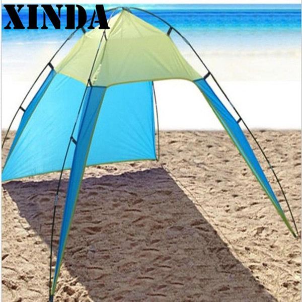 High Quality 210*230*160cm Portable Beach Canopy Sun Shade Triangle Patchwork Tent Shelter Camping Fishing ZPJ1746