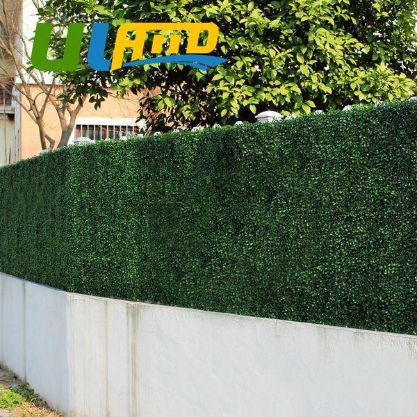 Uland Artificial Boxwood 24 Panels 25x25cm Decorative Artificial Plants Plastic Boxwood Hedges Mats Garden Ornaments G0602a001